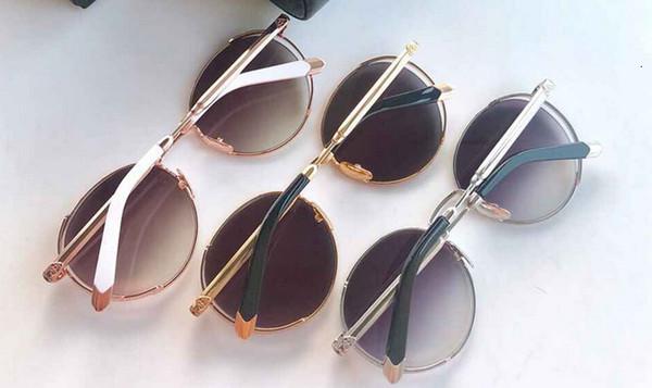 2019 einfache Modedesigner Atmosphäre Reise treibende Gläser Retro Kreis Sonnenbrille