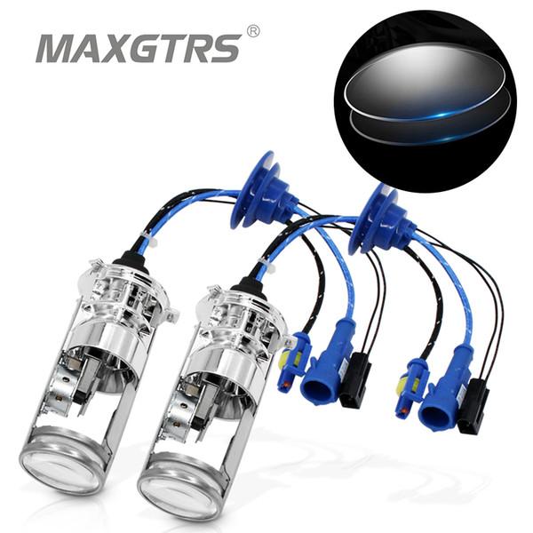 H4 Mini Projector Lens Kit Bi-Xenon HID Bulb Hi//Lo Beam Headlight 6000K White