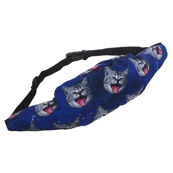 Bum Bag Fanny Pack Festival Bolsa Cinto De Viagem De Férias Bum Bag Carteiras Dinheiro (Azul)