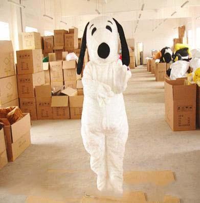 2018 La mascotte snoopy del cane della peluche bianca adulta di alta qualità costumes i costumi operati goccia buona qualità di trasporto