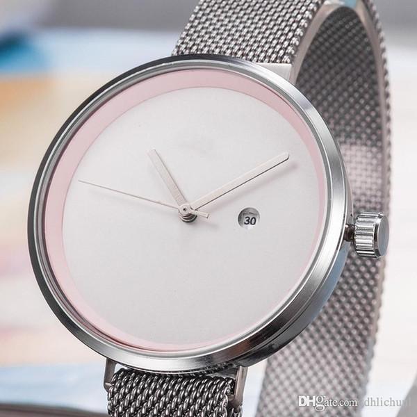 2019 hommes de commerce extérieur Montres de luxe montre jour la date montre des hommes de montres de luxe en métal Band montres pour hommes Hot Vente Montres de marque Montrésor