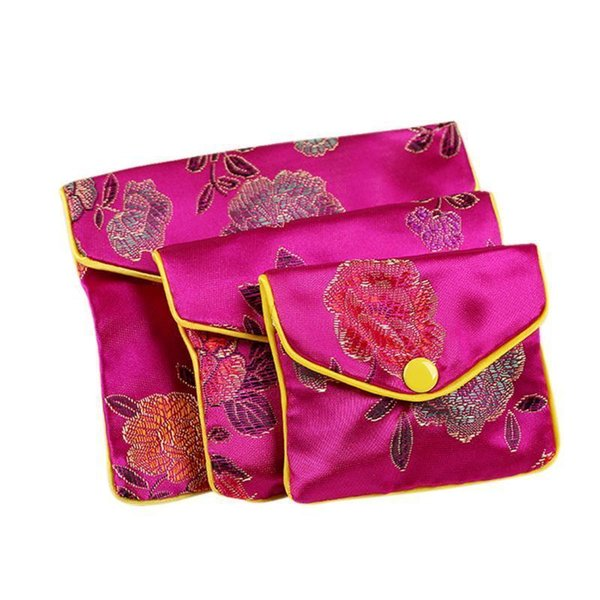12pcs Ethnic Style Coin Purses Jewelry Rolls Storage Bag Women Pouch Gift Change Bags Ladies Mini Money Card Key Organizer Bag