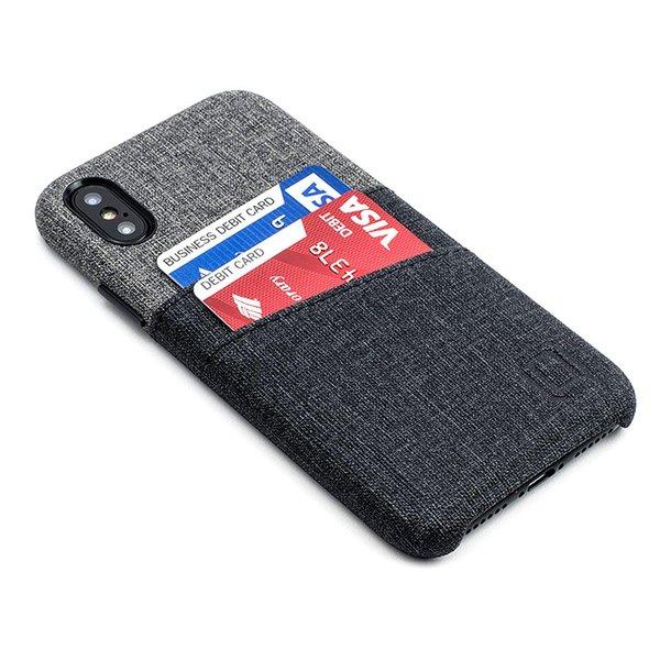 Handyhülle Silikon Iphone X Case Simple Style Twill Canvas Kunstleder Brieftasche Schutzhülle Visitenkarte Mit 2 Kartenfächern Bedruckte Handyhüllen