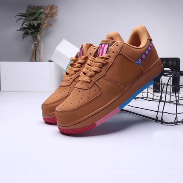 Yeni Renk erkekler kadınlar için 1 koşu ayakkabıları siyah beyaz Kahverengi Mavi Erkek eğitmen Kadınlar 1 spor smaç Açık ayakkabı Eğlence Pa sneakers