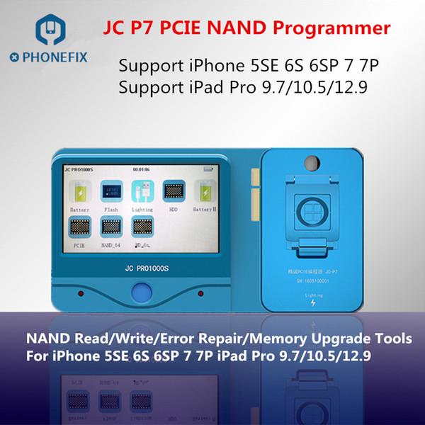 JC PHONEFIX Pro1000S JC P7 NAND Programmer PCIE NAND SN Lire Repair Tool Pour écrire 5SE 6S 6SP 7 7P iPad Supprimer erreur Pro