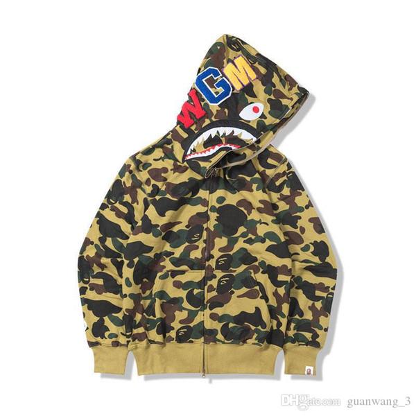 best selling Men's Designer Hoodie 19ss Men's Women's Designer Coat Hoodie Camo Print Ba Men's High Quality Sweatshirt 6 Colors