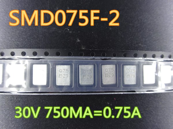 best selling 50pcs lot New Fuse SMD075F-2 30V 750MA=0.75A In Stock Free Shipping