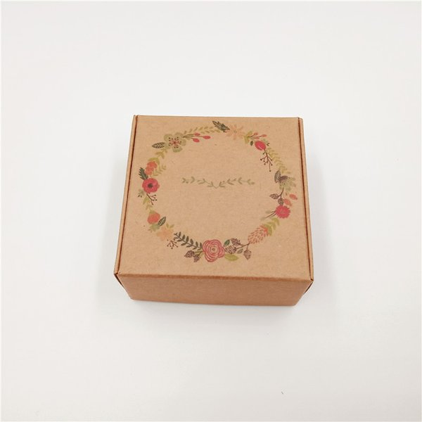 200Pcs/Lot 6.5x6.5x3cm New Hot Kraft Paper Card Box Printed Handmade Love Birds Lei Balloons For Pack Egg Tart Cupcake Macaron