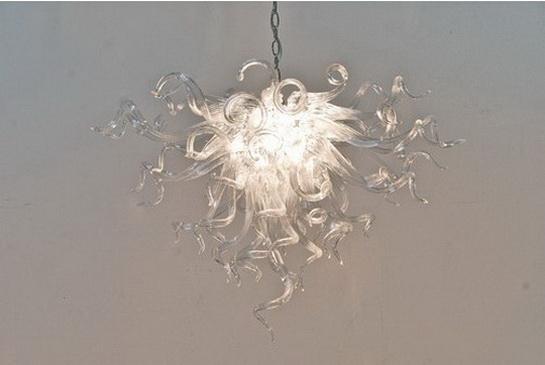 Puros Limpar queimados luzes de teto de vidro de suspensão do vidro de Murano Chandelier Lamp for Contemporary Casa Decor Simples