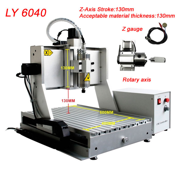cnc 6040z 2.2kw usb router engraver-machine mach3 control 4axis cnc wood carving machine woodworking milling lathe water cooling