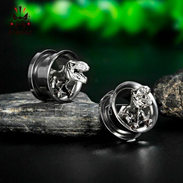 Paire de Acier Inoxydable Oreille Tunnels Plugs Stretcher Body Piercing Jewelry