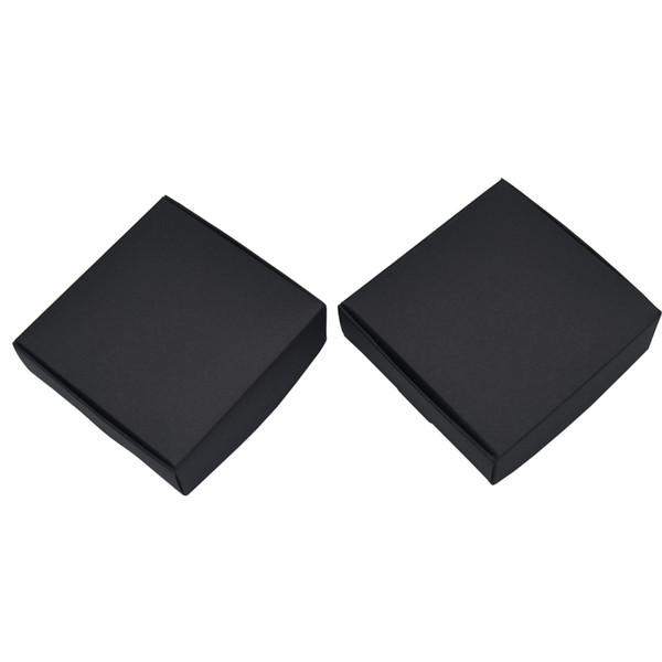 7*7*2.2cm Black Wedding Favors Candy Party Decor Pack Boxes Carton Box Jewelry Kraft Paper Christmas DIY Gifts Foldable Box 50pcs/lot