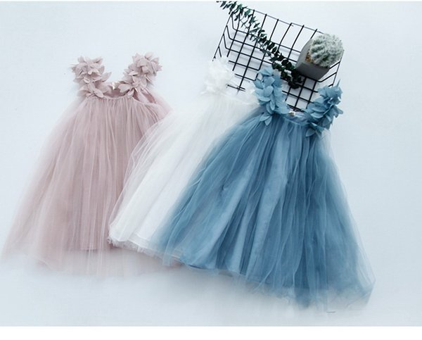 Retail Baby Girls Dress 2019 Summer New Leaves Tutu Party Princess Dresses For Kids Children Clothes 3-12Y E9031