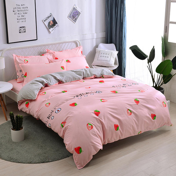 3/4pcs Home textile Bedding Sets Duvet Cover Bed Set Pillowcase King Queen Double Full Twin size bed sheets Free Shipping