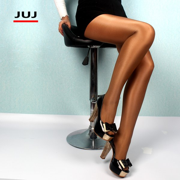 2019 Sexy Women Super Elastic Brilliant Stockings Nylons Pantyhose Skinny Legs Glitter Tights Prevent Hook Silk Collant Medias