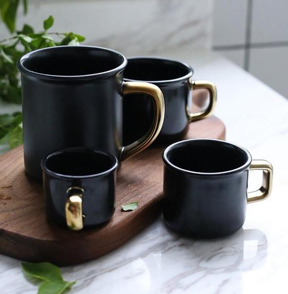 Seramik Bardak Bardak Mat Kahve Bira Kupalar Süt Mate Siyah Su Içme Bardağı Su Şişeleri 80 ml 150 ml 250 ml 400 ml GGA2317