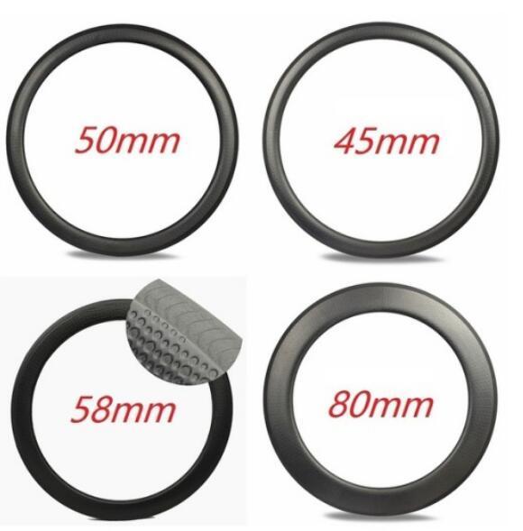 Disk Dimple 45mm Derinlik Disk Fren Kattığı Tübüler 700C Tekerlek U Şekilli Karbon Tekerlek yol disk bisiklet karbon gamze jantlar