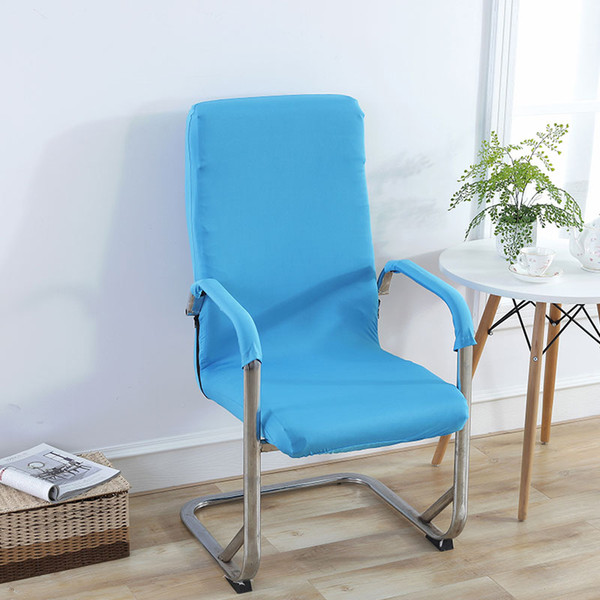 Modern Swivel Chair Cover Piece Office Computer Armrest Seat Cover Lift Stool Set Stretch Spandex Elastic Armchair