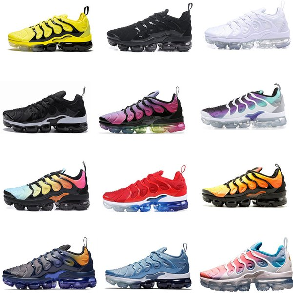 Free Shipping New 2019 Mens Shoe Sneakers TN Plus Breathable Air Cusion Desingers Casual Running Shoes New Arrival Color US5.5-11 EUR36-45
