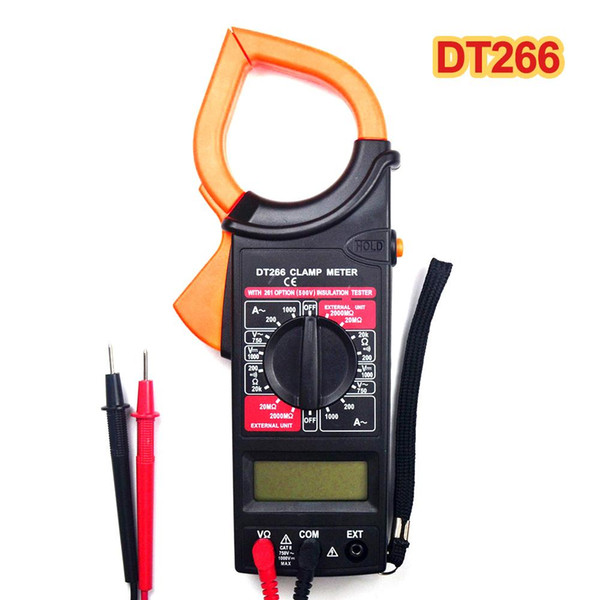New DT266 Handheld Clamp LCD Digital Multimeter AC/DC Ohm Volt Amp Meter Tester Auto Ranging voltage meter Pointer Display