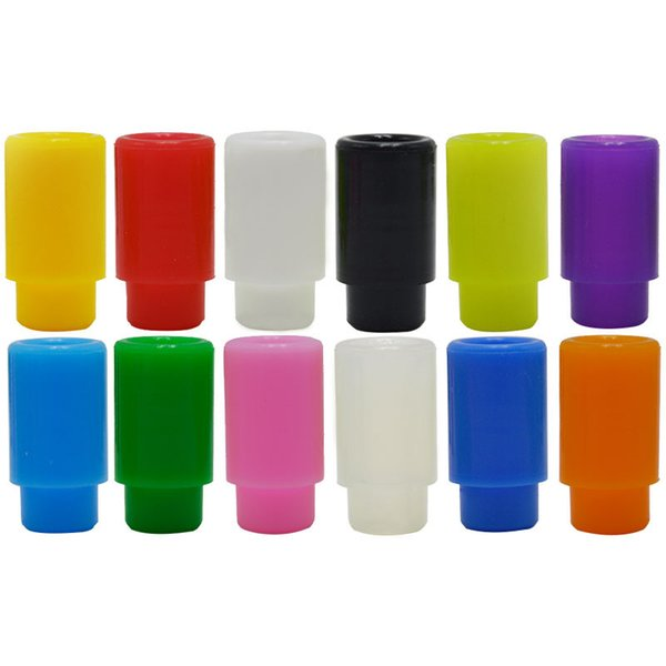 Ecig Drip Tips 510 Silicone Mouthpiece Cover Disposable Colorful Silicon Testing Caps Test Tips Rubber Short eGo Tips Vape Accessories