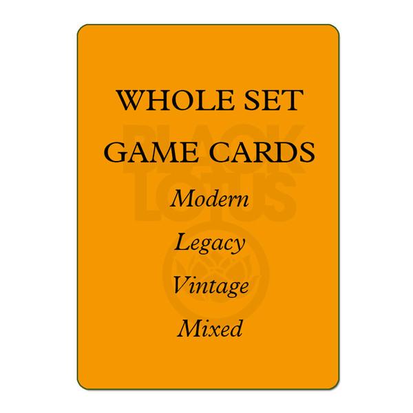 8.0 WHOLE SET 56PCS/LOT Black Core Modern/Legacy/Vintage/Lands Set Mixed Black Lotus TOP Quality Playing Cards Board Games Poker