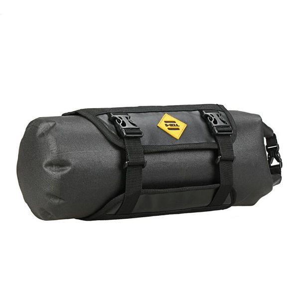 B-SOUL Waterproof Bike Bag Large Capacity Handlebar Front Tube Bag Bicycle Pocket Shoulder Backpack Cycling Bike Accessories
