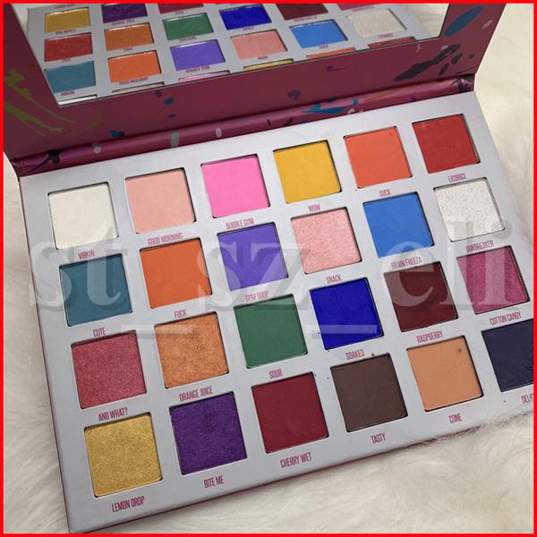 Eye makeup waterproof long la ting five tar 24 color eye hadow make up matte bright color eye hadow pre ed powder palette