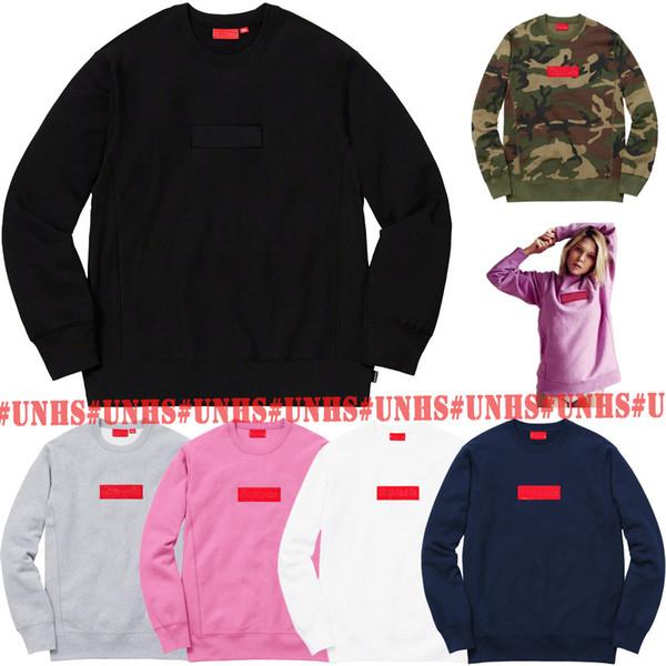 SICAK SATIŞ üst! Klasik UNHS Pembe moda Kamuflaj bogo O-Boyun Kutusu Logo Crewneck kapüşonlu uinonhouse MEN KADIN streetwear 16 renk ücretsiz gönderim