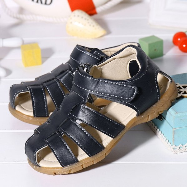 Children Kids Shoes Baby Boy Girl Closed Toe Summer Beach Sandals Shoes Sneakers