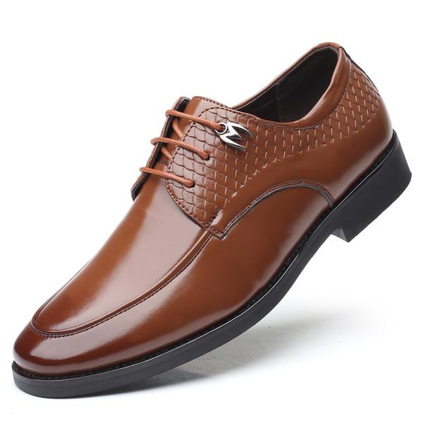 Hombres maduros hombres zapatos casuales de viaje de negocios gran tamaño de los zapatos del holgazán pisos grano escala hombre zapatos de hombre de negocios con cordones zy325 mocasín