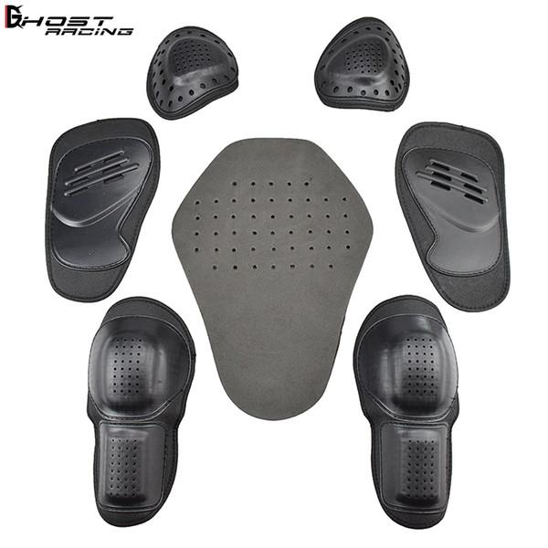 Combinaison de course / veste de lutte luttant équipement de protection intégré / garde de moto 5 jeux d'épaulettes coudière soins du dos