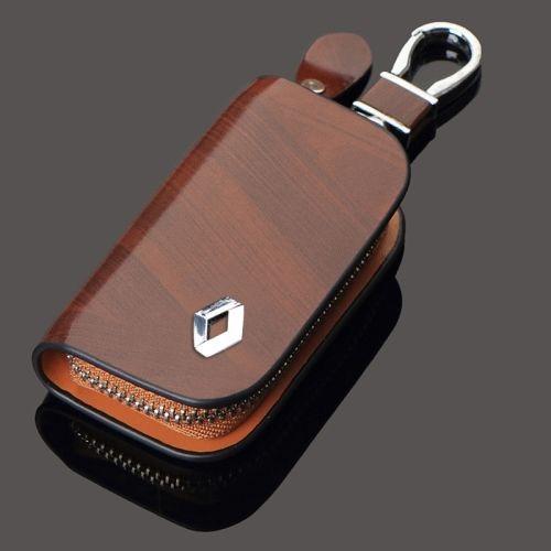 Cartera de cuero de la PU para la cubierta de la caja de la llave del coche para la cubierta de la cadena dominante del coche de Renault