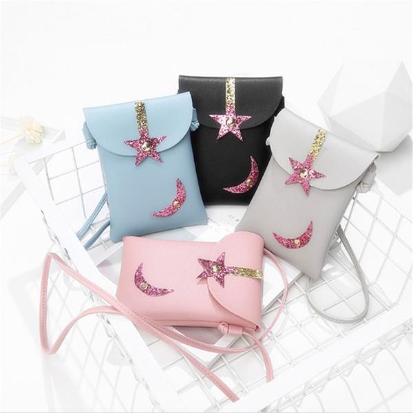 Candy Color Shoulder Bag Solid Crossbody Bag Star Moon Mini Korean Style Bolsas Feminina Saco Messenger Phone Coin