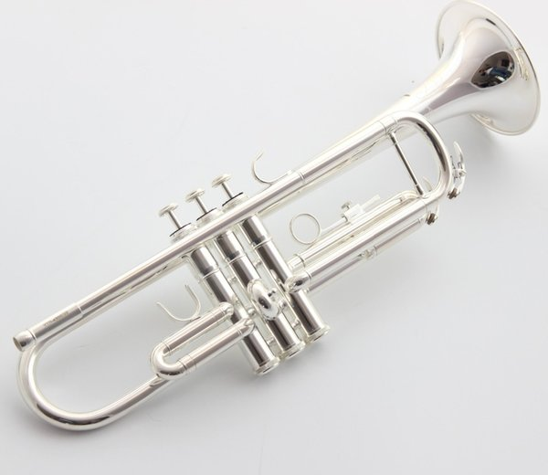 2019 Japan Bb Trumpet 4335GSll Silver Plated Music Instruments Profesional Trumpets Intermediate Student Case Mouthpiece Accessories