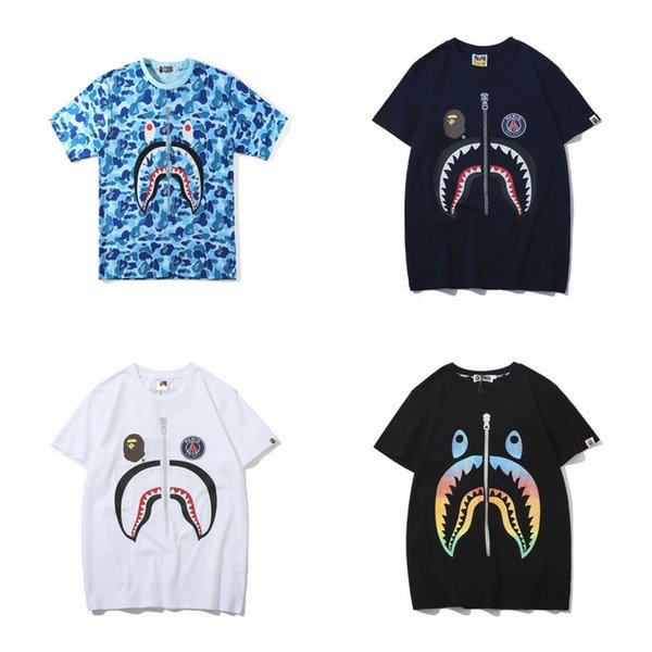 A bathing aape ape mens designer t shirts print cotton men women clothing causal sport tees for summer