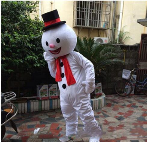 2019 hohe qualität heißer Erwachsene Nette MARKE Cartoon Neue Professionelle Tier weihnachten Heißer Schneemann Maskottchen Kostüm Abendkleid