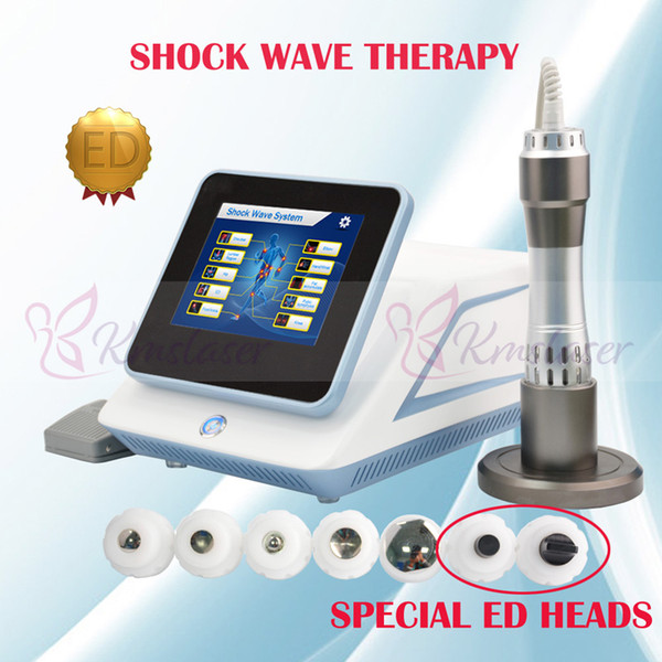 2019 machine de physiothérapie par ondes de choc nouvelle version pour la thérapie par ondes de choc traitement / ED électromagnétique pour le traitement de réduction de la cellulite