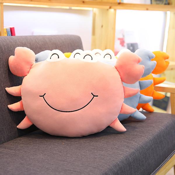 Simülasyon Kawaii Yengeç Peluş Oyuncaklar Çocuklar Çocuklar için Dolması Yumuşak Yastık Yastık Sevimli Deniz Hayvan Oyuncaklar