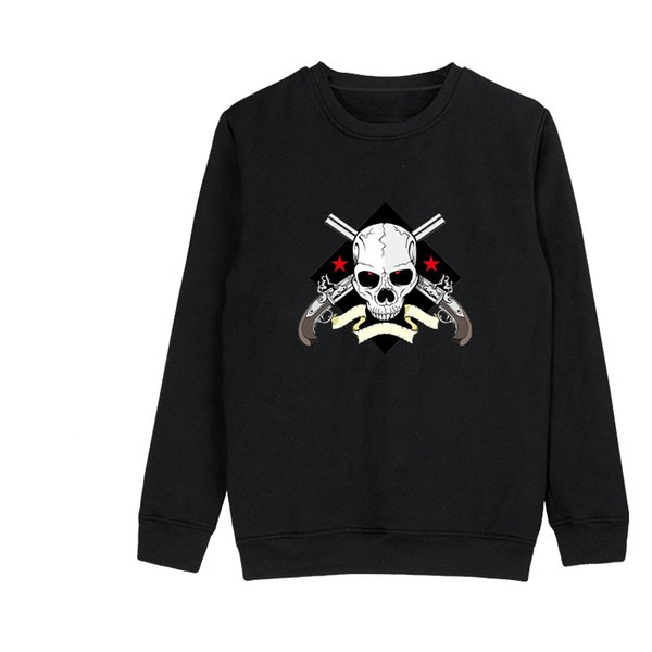 SMZY Men New Arrival Skull Print Sweatshirt Long Sleeve Casual Sweatshirt Pullover Tops Cheap Clothes Plus Size Top XXXXL