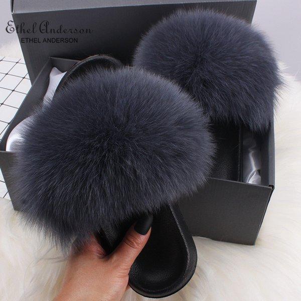 Dark Grey Fox Fur