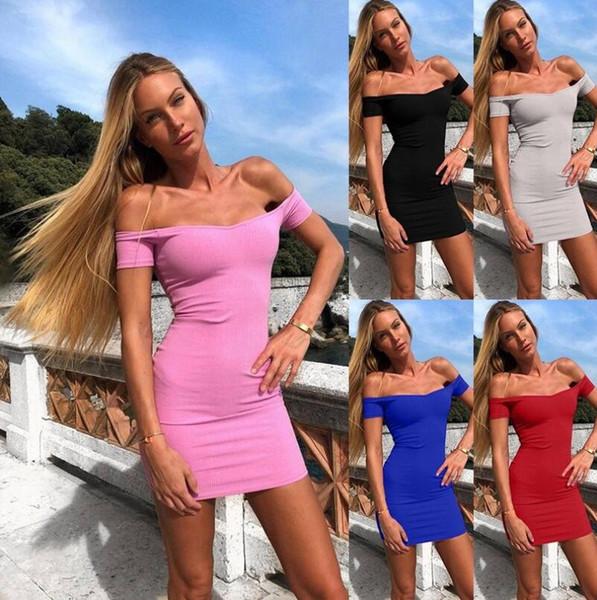 Mini-robe sexy d'été sans manches sexy pour fille 2019
