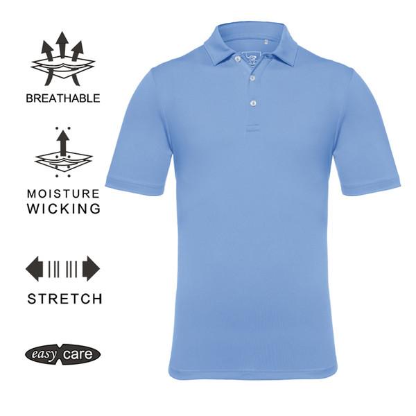 EAGEGOF мужчины гольф рубашка с коротким рукавом поло гольф носить быстро сухой спортивная одежда Одежда на заказ DIY логотип / шаблон Оптовая команда униформа