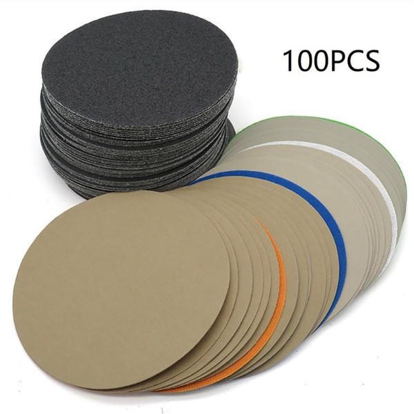 best selling 100pcs 6in 150mm 320 400 600 800 1000 1500 2000 3000 5000 10000 Grit Disk Water Sandpaper Flocking Wet And Dry