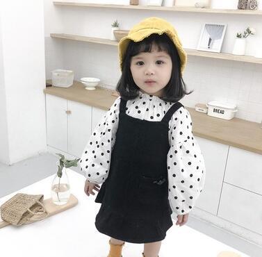 2019 Новая весна и осень Стиль детей с длинными рукавами платье и юбка из двух часте