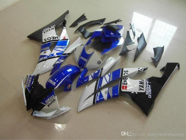 4 Free Gifts New Injection ABS Fairing kit 100% Fit for YAMAHA YZFR6 08 09 10 11 12 13 14 15 YZF R6 2008-2015 YZF600 set blue white vs black