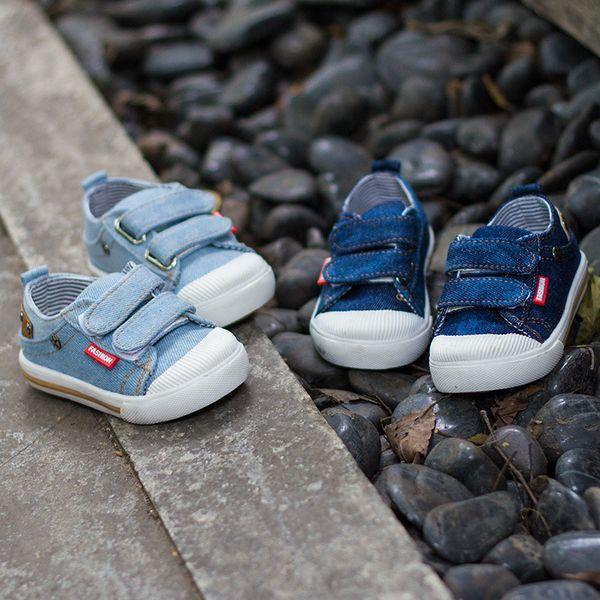 scarpe di tela per bambini Designer 2019 versione coreana dei nuovi ragazzi e le ragazze di tela scarpe comode scarpe casual denim