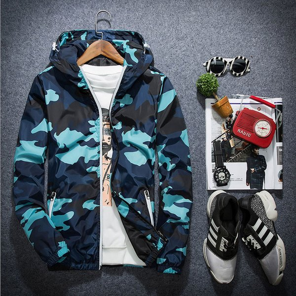 1pcs men zipper jackets coats 2016 autumn fashion high-grade breathable fabrics camouflage hooded coats travel jacket mens thumbnail