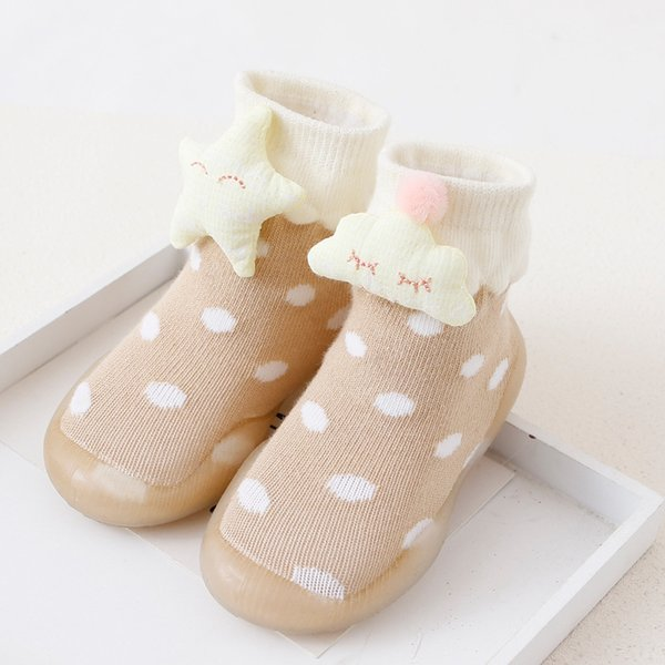 dkDaKanl Baby Girl Anti Slip Princess First Walker Shoes Rubber Sole Soft Cute Dots Warm Newborn Baby Girl Shoes Moccasins