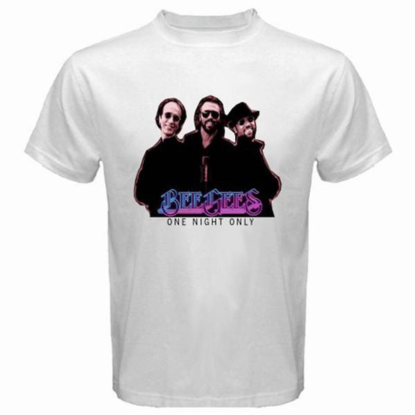 Мода футболка мужская короткие короткие Bee Gees футболки